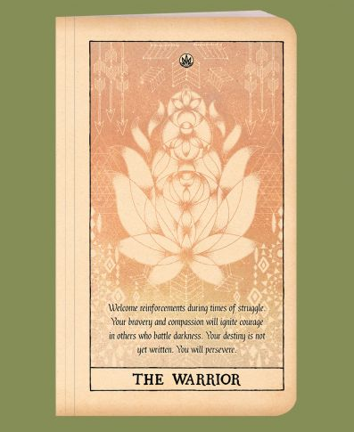 SOUL FLOWER RECYCLED NOTEBOOK- THE WARRIOR