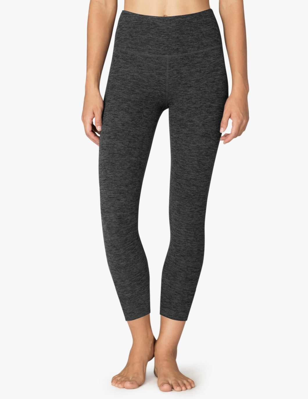 BEYOND YOGA SPACEDYE CAUGHT IN THE MIDI HIGH WAISTED LEGGING - BLACK/CHARCOAL