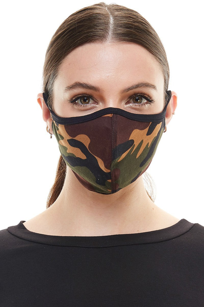 MILEY & MOLLY EAR LOOP FACE MASK- CAMOUFLAGE