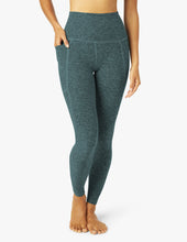 BEYOND YOGA SPACEDYE OUT OF POCKET HIGH WAISTED MIDI LEGGING DEEP OCEAN NEW!!!