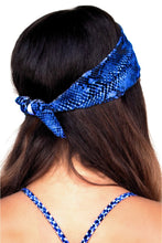 ELISABETTA ROGIANI TIE BACK HEADBAND SNAKE PRINTS VARIOUS COLORS