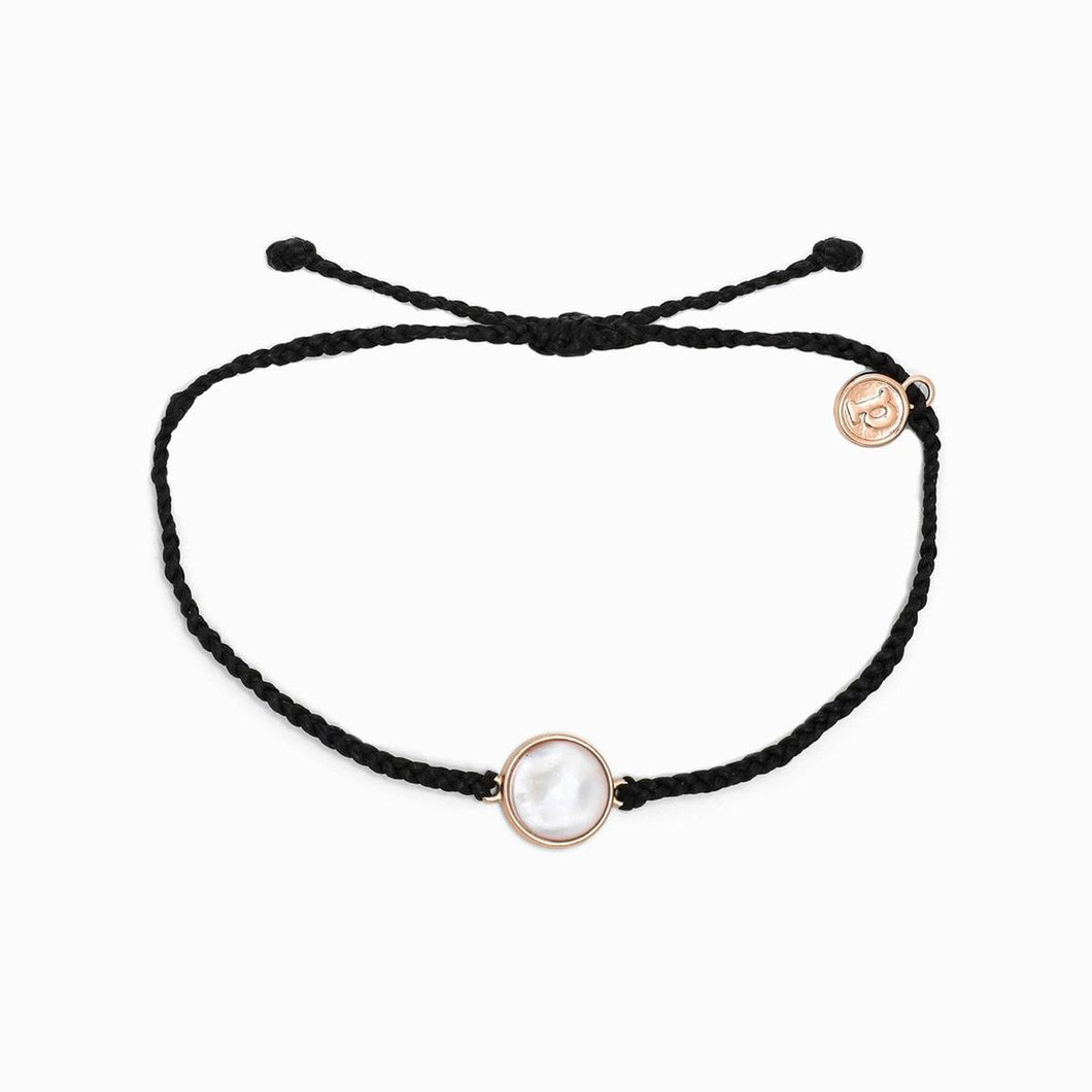 PURA VIDA MOTHER OF PEARL BRACELET IN BLACK