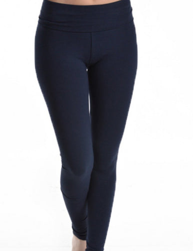 T PARTY ROLL DOWN WAIST LEGGING SOLID COLOR