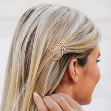 PURA VIDA PINEAPPLE HAIR BARRETTE ROSE GOLD