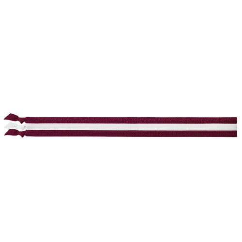 EMI JAY SPIRIT HEADBANDS 3 PACK- BURGUNDY & WHITE