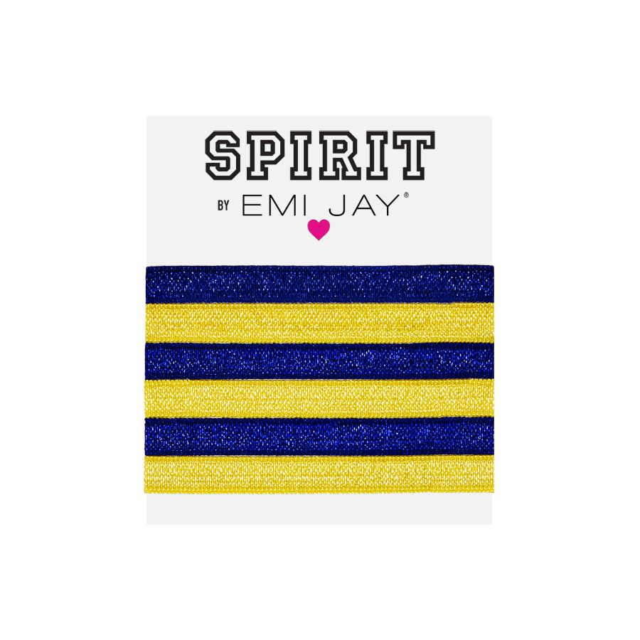 EMI JAY SPIRIT HAIR TIES 6 PACK- BLUE & YELLOW