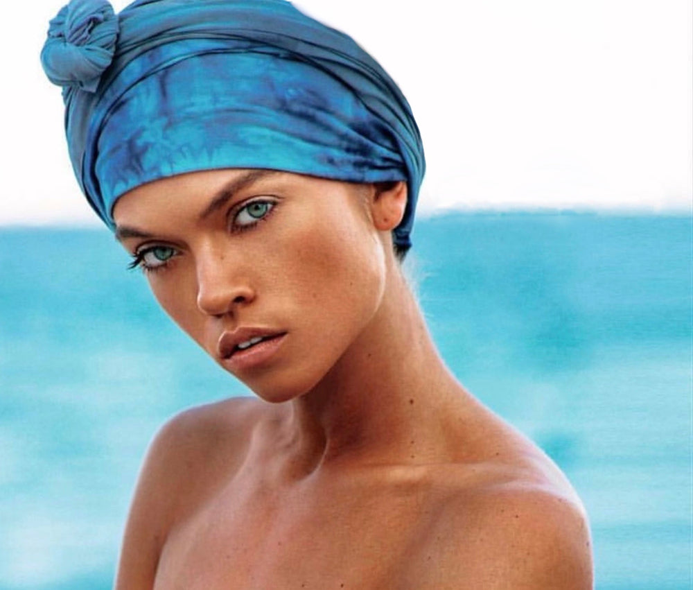 Load image into Gallery viewer, Onda Blu Headwrap