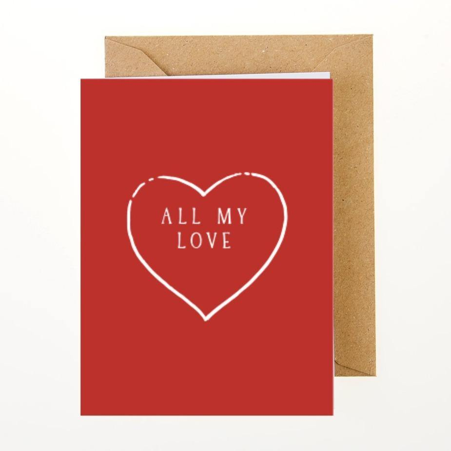 All My Love Card - Greeting Card - BoxTree