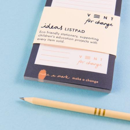 Vent For Change | Blue Ideas List Pad | BoxTree | Send a Gift
