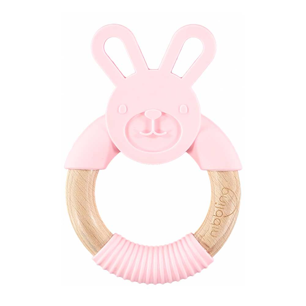 Nibbling | Pink Bunny Teether | BoxTree | Send a Gift