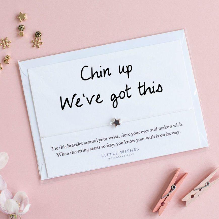 Molly & Izzie | 'Chin Up, We've Got This' Little Wish Bracelet | BoxTree | Send a Gift