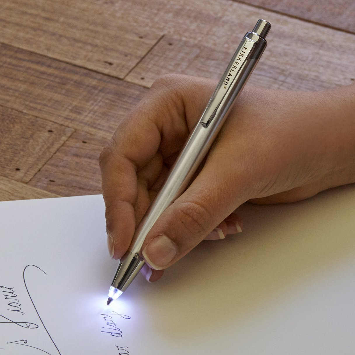 Kikkerland | Flashlight Ballpoint Pen | BoxTree | Send a Gift