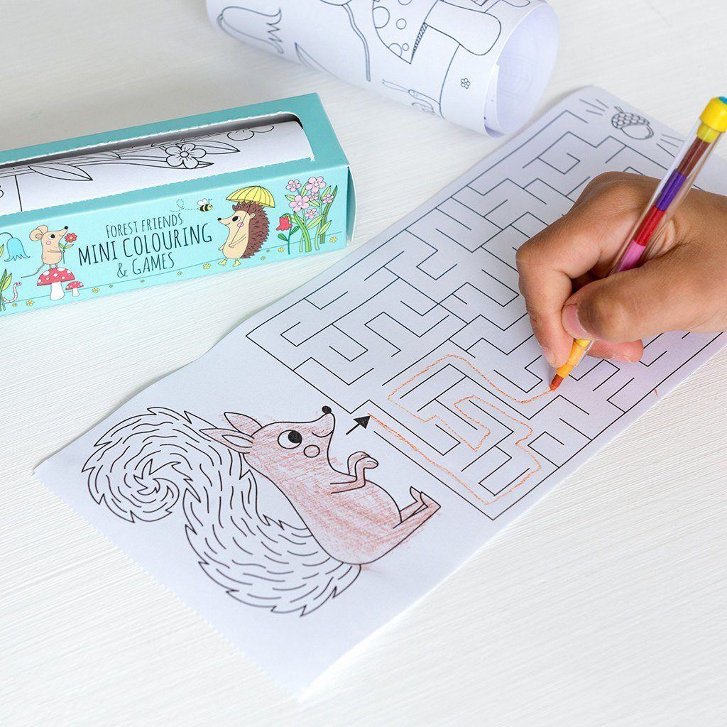 BoxTree Kids | Forest Friends Colouring & Games Kit | BoxTree | Send a Gift