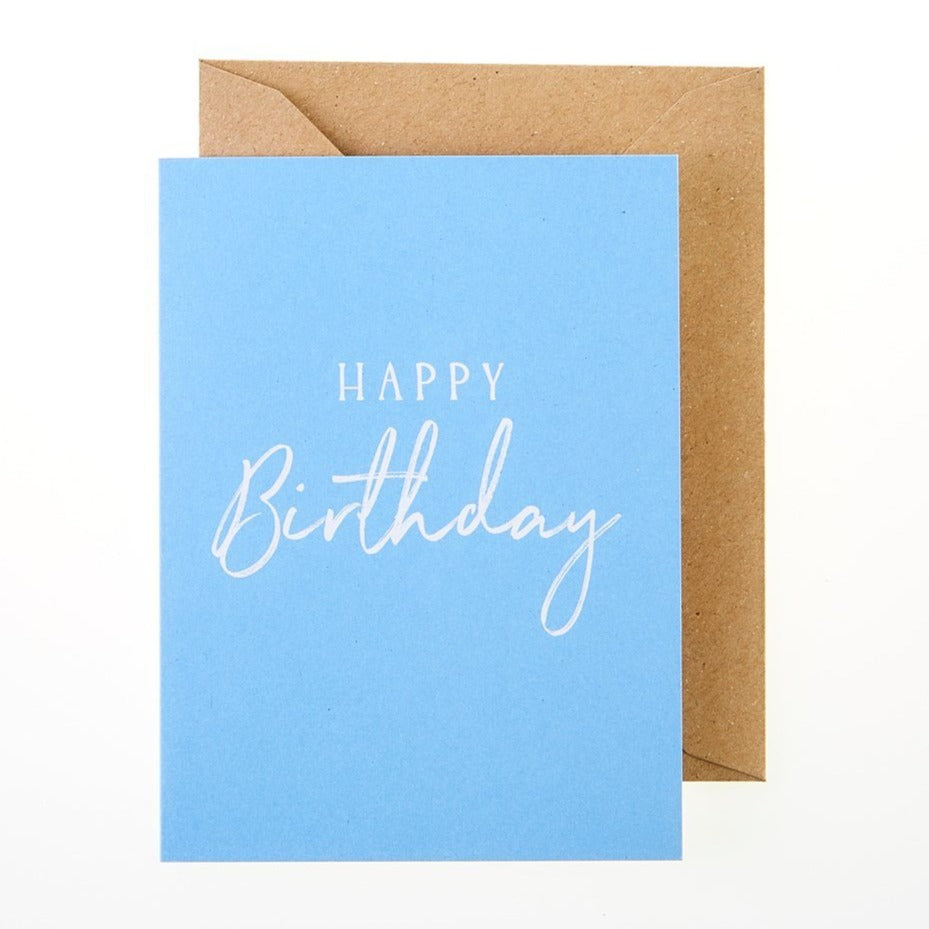 Happy Birthday Card (Blue) - Greeting Card - BoxTree