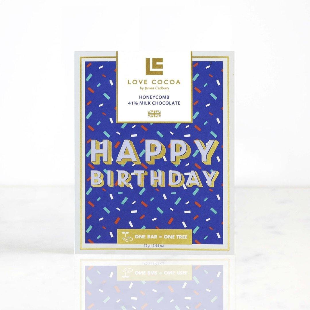 'Happy Birthday' Honeycomb Milk Chocolate - Gift - BoxTree