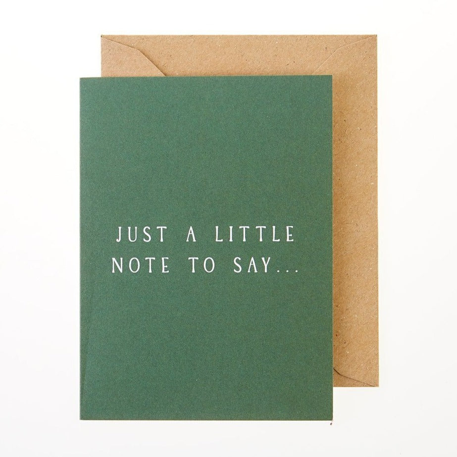 Just a Little Note Card - Greeting Card - BoxTree