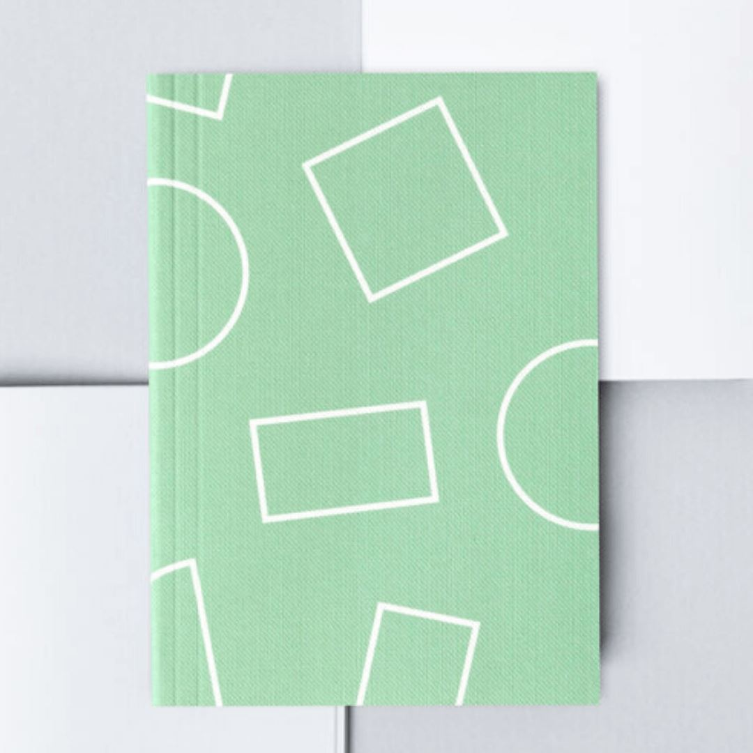 Ola Studio | Mint Squares LayFlat Notebook A6 | BoxTree | Send a Gift