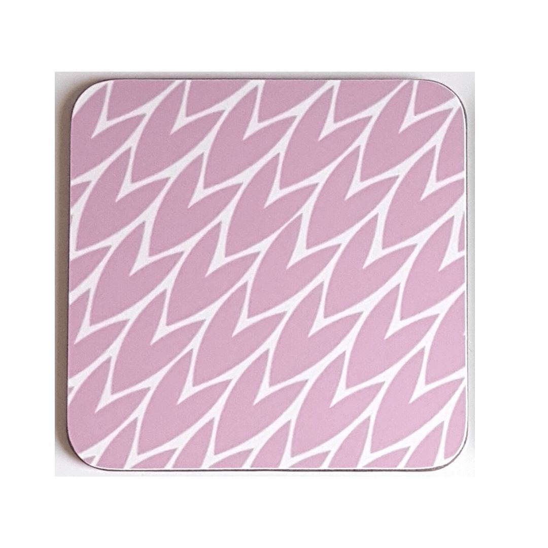 Leaf Print Coaster // Pink - Gift - BoxTree
