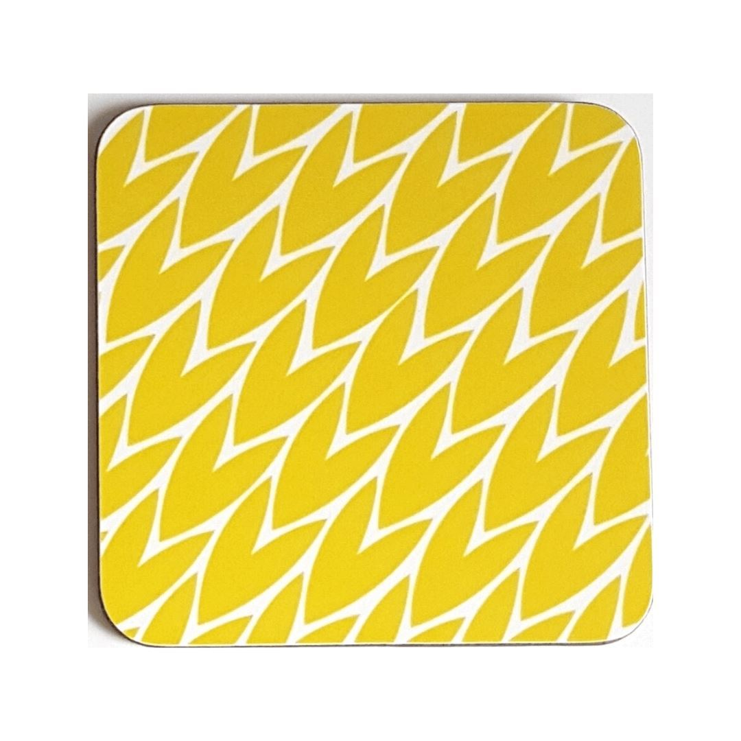 Laura Jackson Designs | Yellow Leaf Print Coaster | BoxTree | Send a Gift