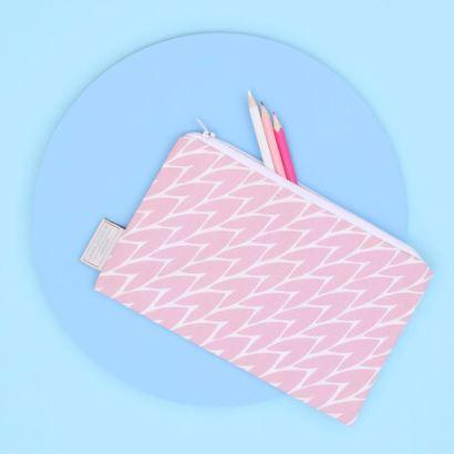 Leaf Print Pouch // Pink - Gift - BoxTree