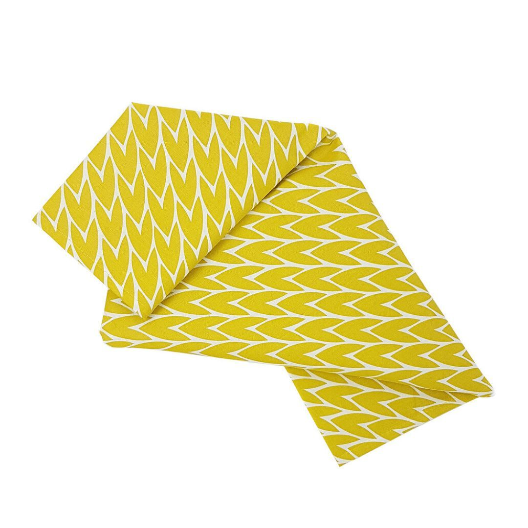 Laura Jackson Designs | Yellow Leaf Print Kitchen Towel | BoxTree | Send a Gift