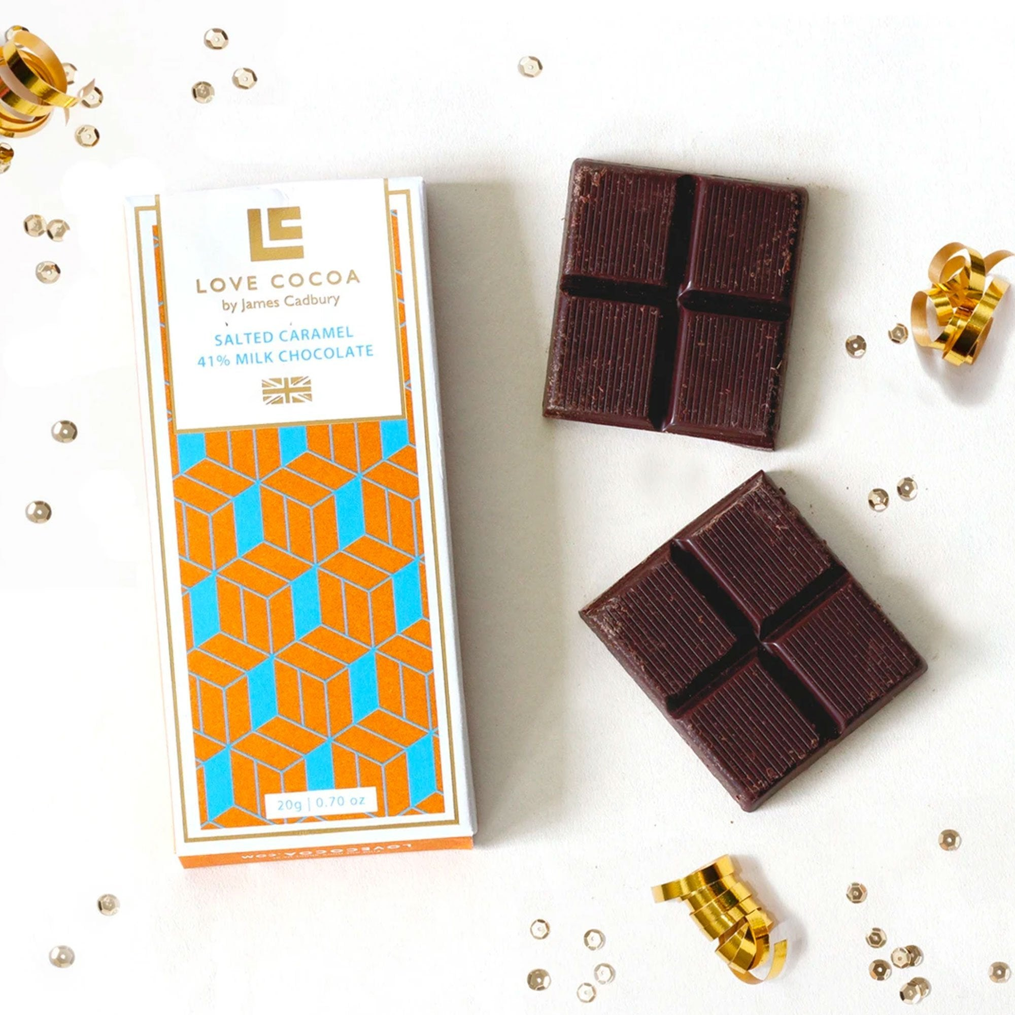 Love Cocoa | Mini Salted Caramel Milk Chocolate Bar | BoxTree | Send a Gift