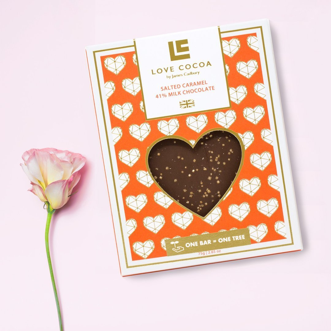 Love Heart Salted Caramel Milk Chocolate - Gift - BoxTree