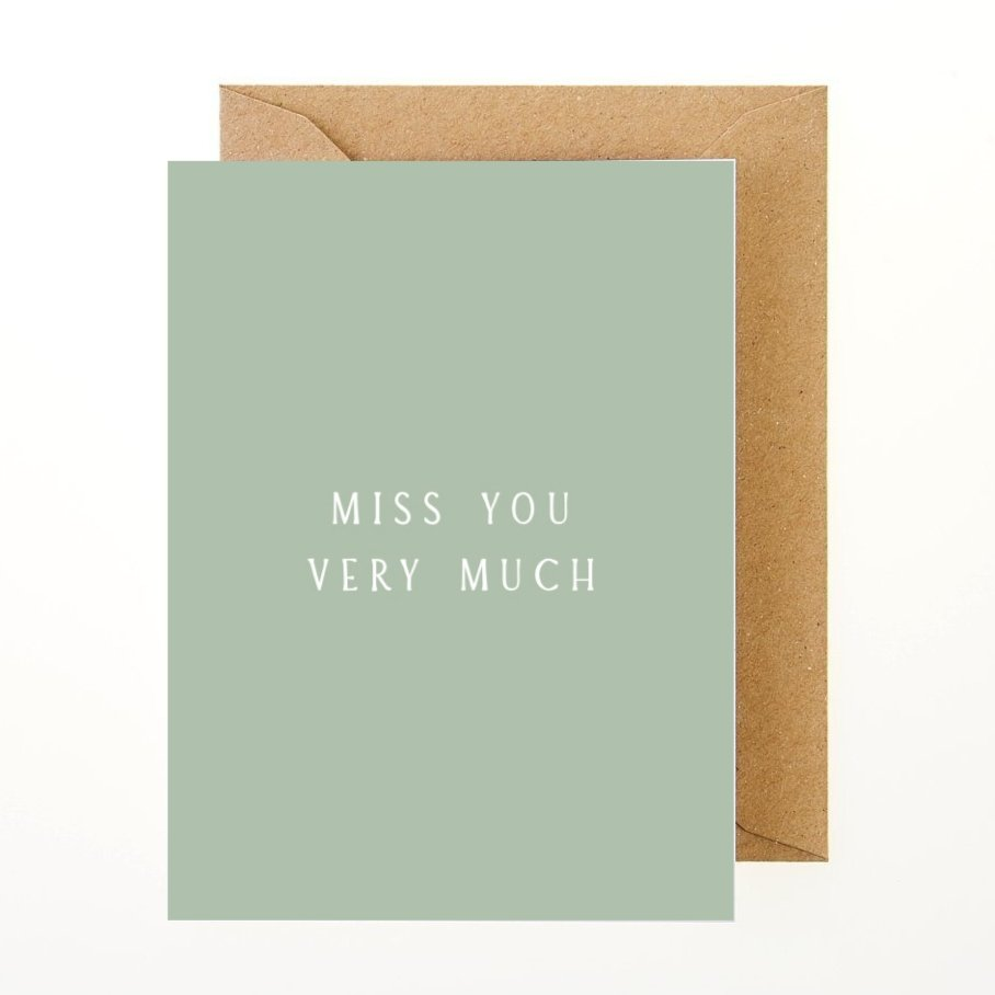 Miss You Very Much Card - Greeting Card - BoxTree