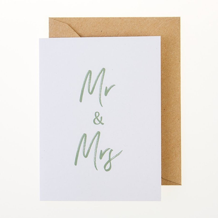 Mr & Mrs Card - Greeting Card - BoxTree