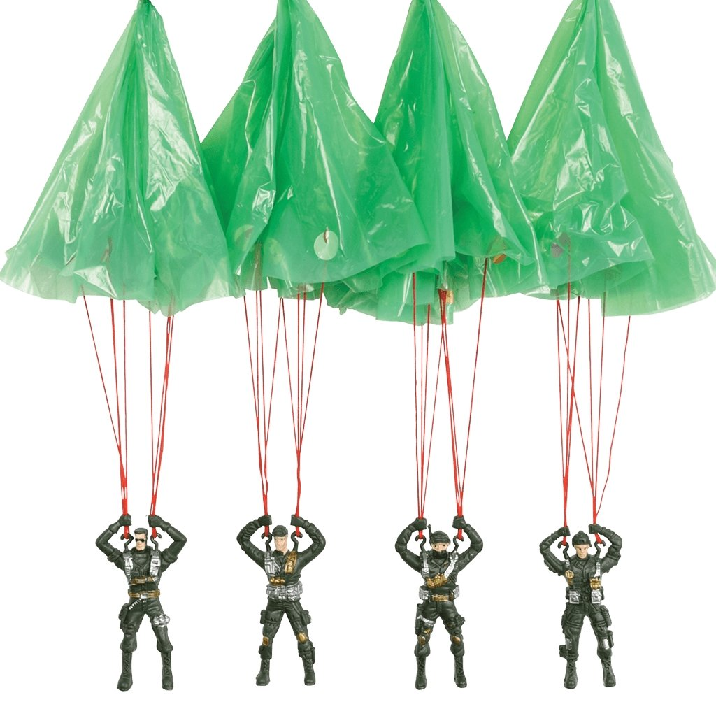 BoxTree Kids | Paratrooper Parachute Toy with Slingshot Launcher | BoxTree | Send a Gift