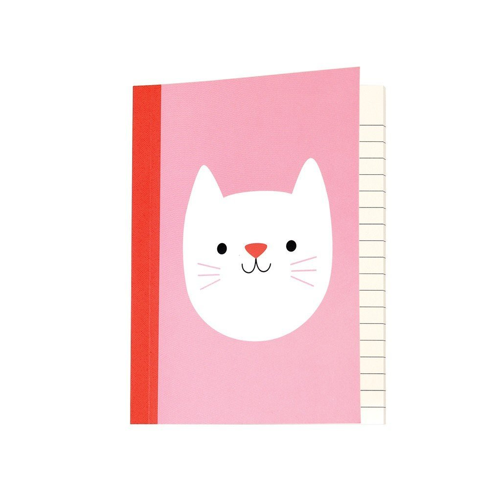 Pink Cat Notebook - Gift - BoxTree