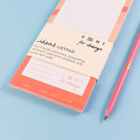 Pink Ideas List Pad - Single Gift - BoxTree