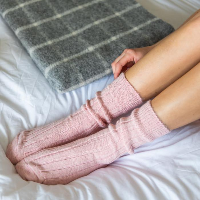Pink Soft Alpaca Socks - Gift - BoxTree