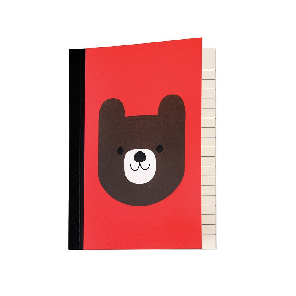 Red Bear Notebook - Gift - BoxTree
