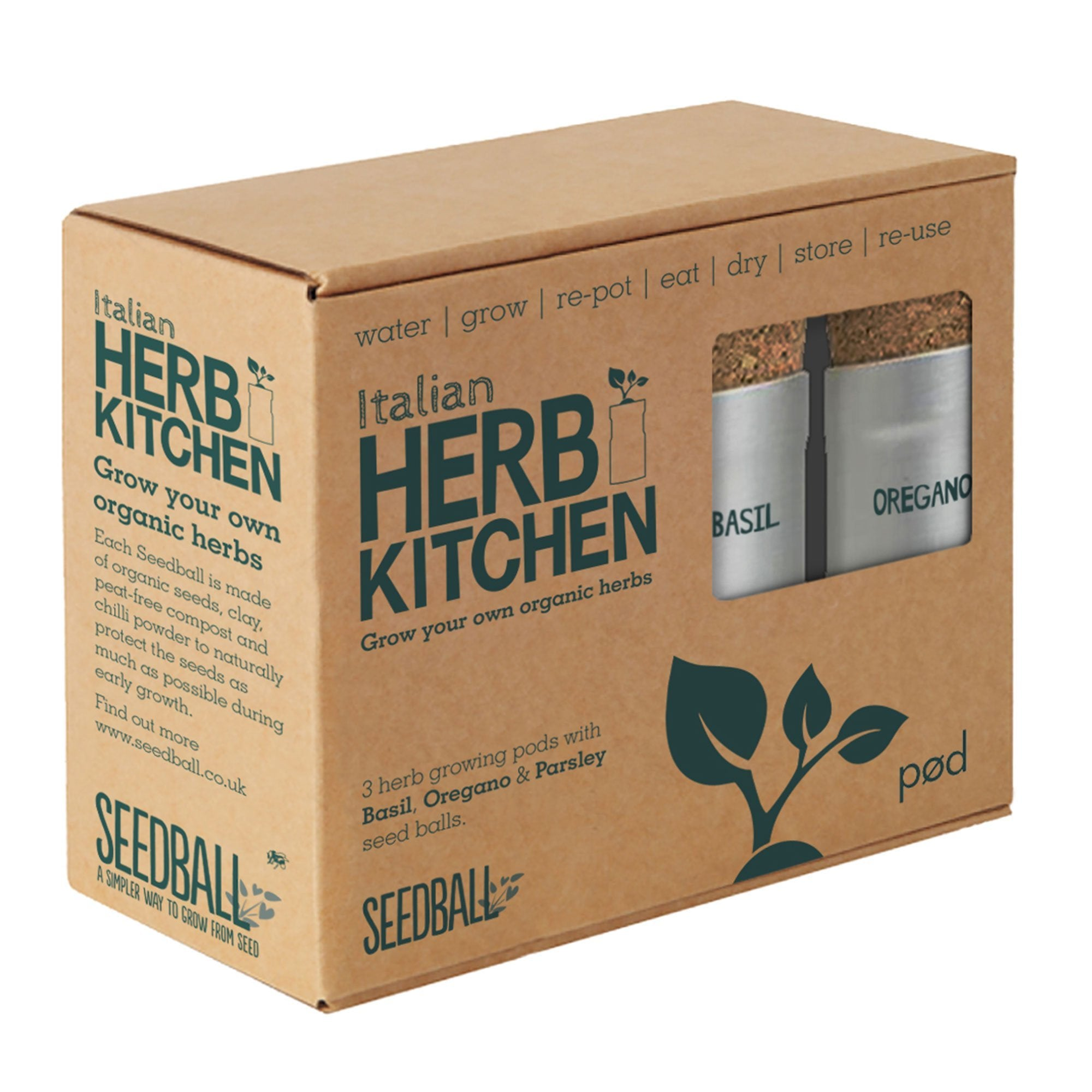 Seedball | Italian Herb Kitchen Set | BoxTree | Send a Gift