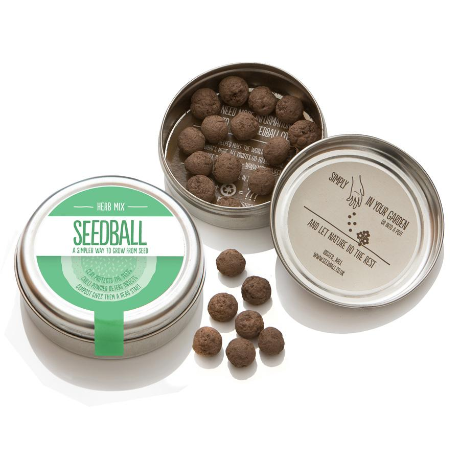 Seedball | Herb Mix Seedball Gift | BoxTree | Send a Gift