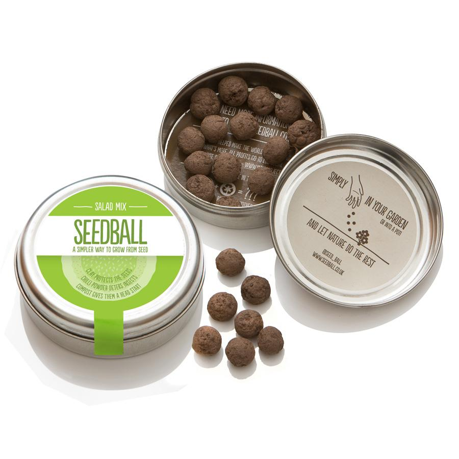 SeedBall Tin // Salad Mix Gift Seedball
