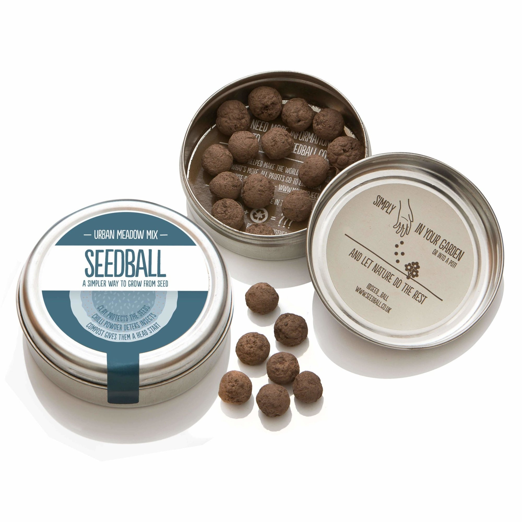 Seedball | Urban Meadow Mix Seedball Gift | BoxTree | Send a Gift