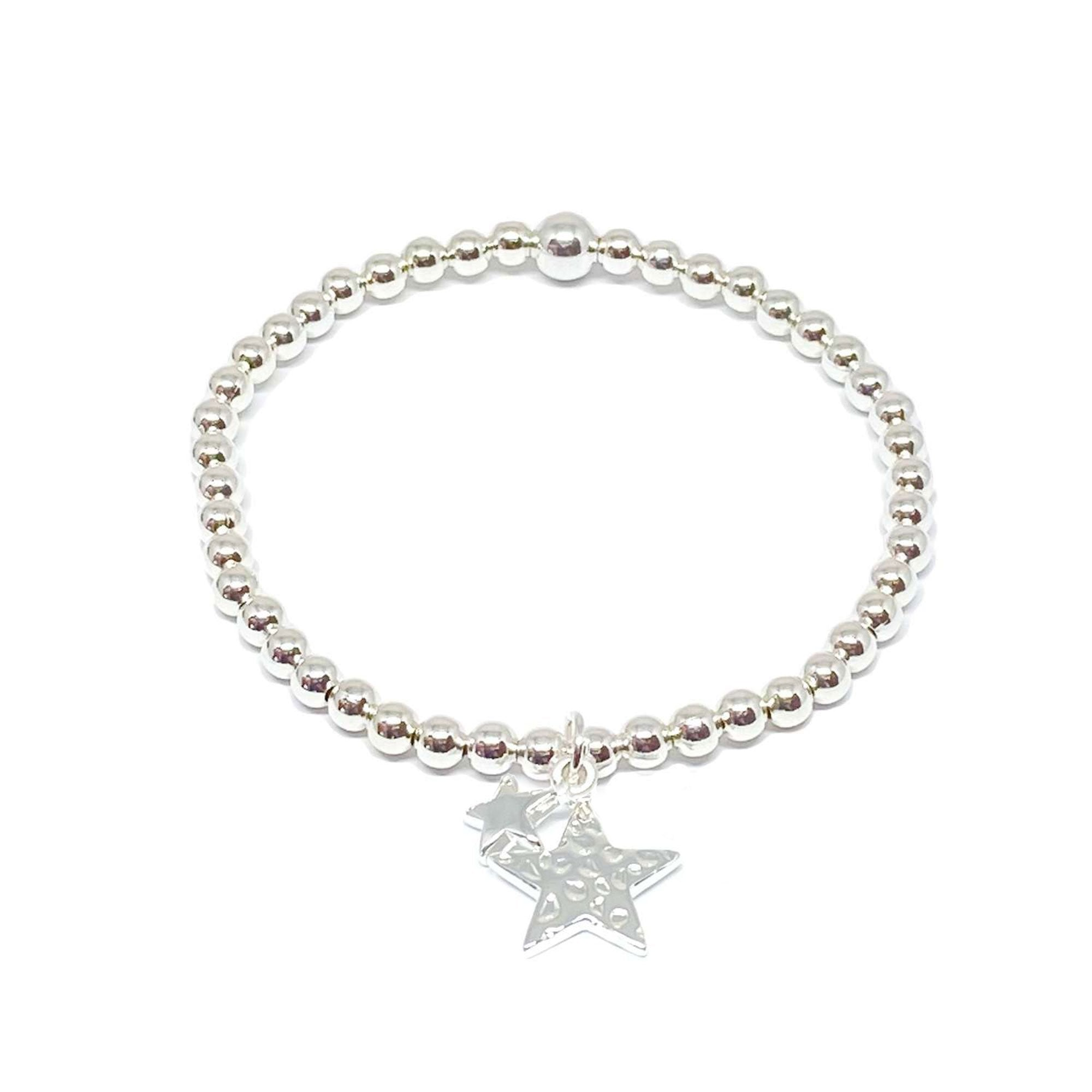 Clementine | Silver Double Star Bracelet | BoxTree | Send a Gift