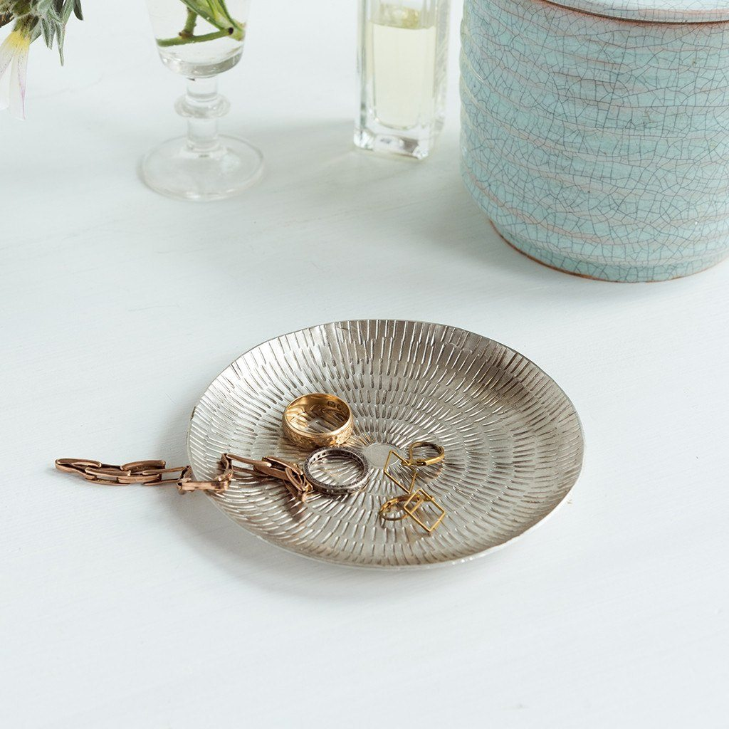 Silvered Brass Dish - Gift - BoxTree