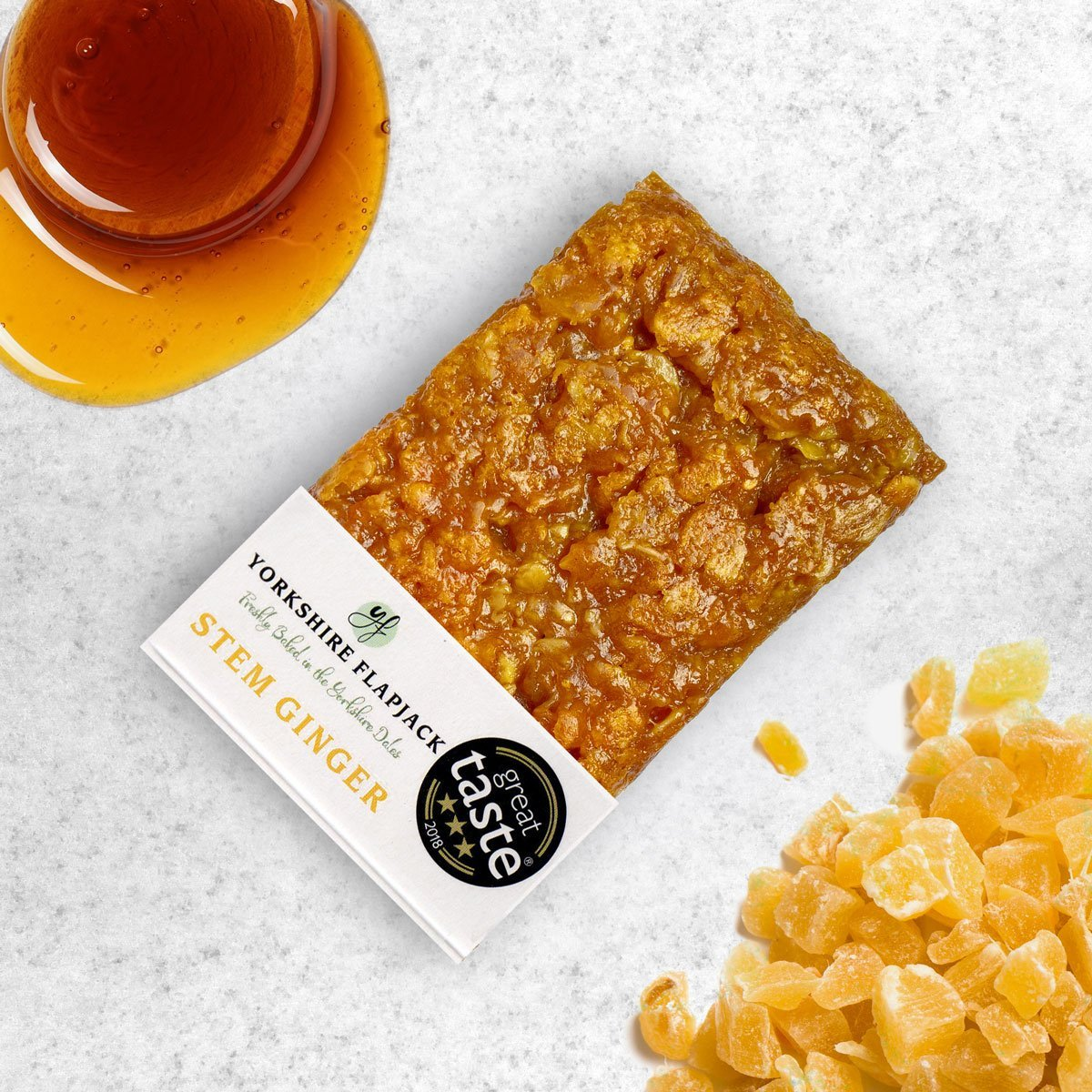 Yorkshire Flapjack | Stem Ginger Flapjack | BoxTree | Send a Gift