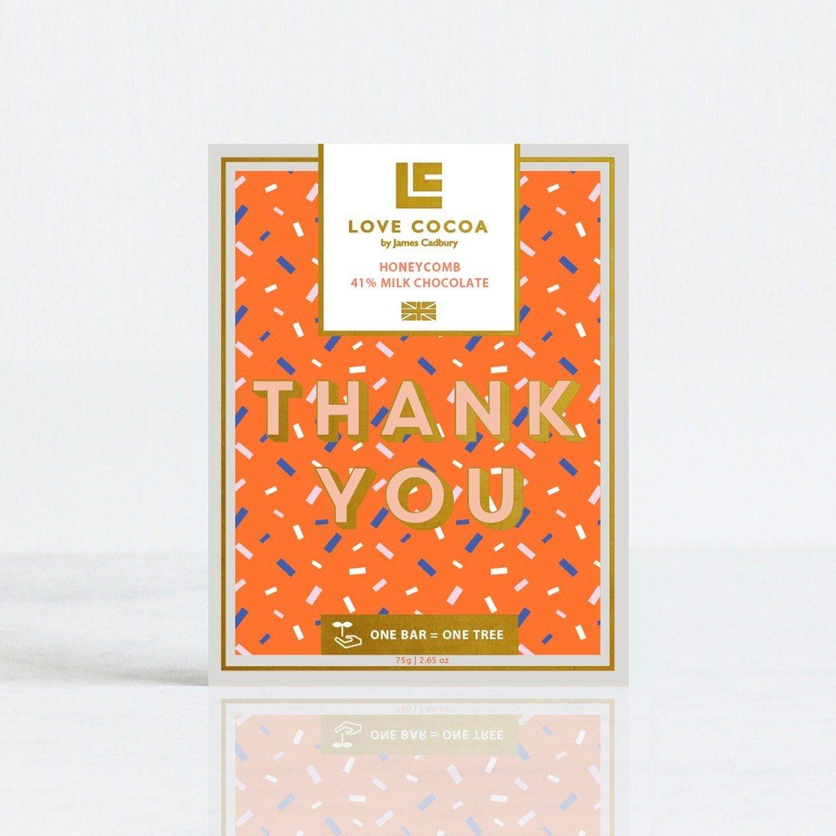 'Thank You' Honeycomb Milk Chocolate - Gift - BoxTree