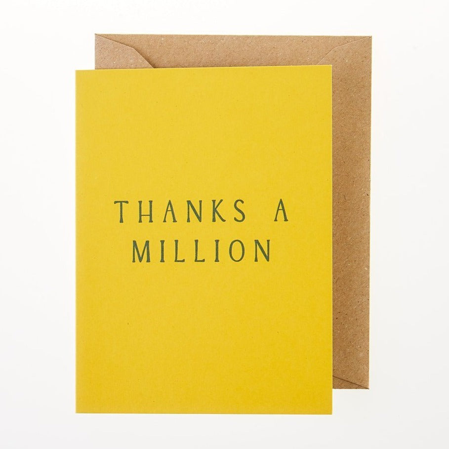Thanks A Million Card - Greeting Card - BoxTree