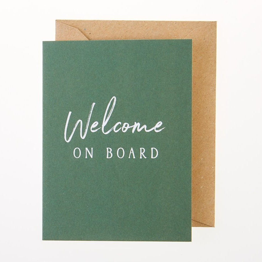 Welcome On Board Card - Greeting Card - BoxTree