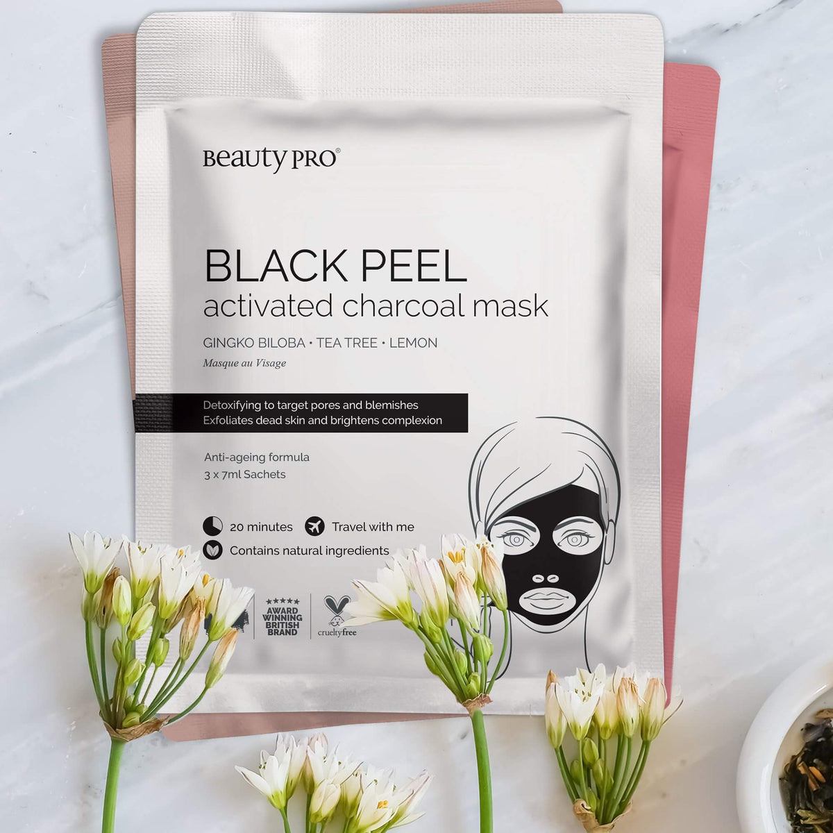 White Charcoal Face Mask - Single Gift - BoxTree