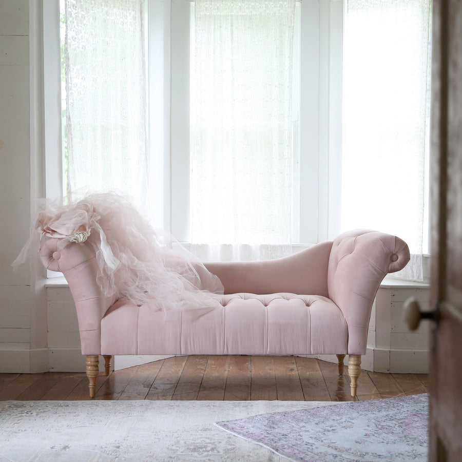 - Savannah Chaise Lounge Pink Tufted Chaise Lounge – Rachel Ashwell Shabby  Chic Couture