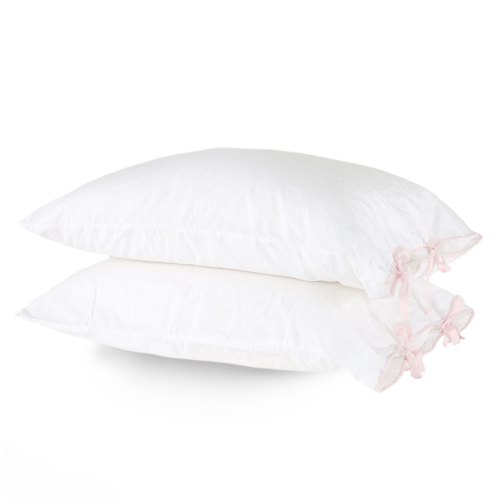 Capri Bedding with Contrast Tie - Pink