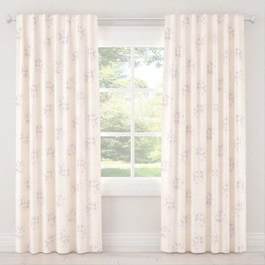 Shabby Chic Curtain Collection - Bella Pink - Blackout