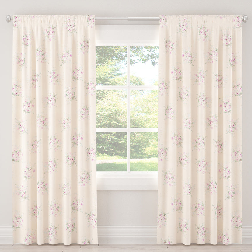 Shabby Chic Curtain Collection - Bella Pink