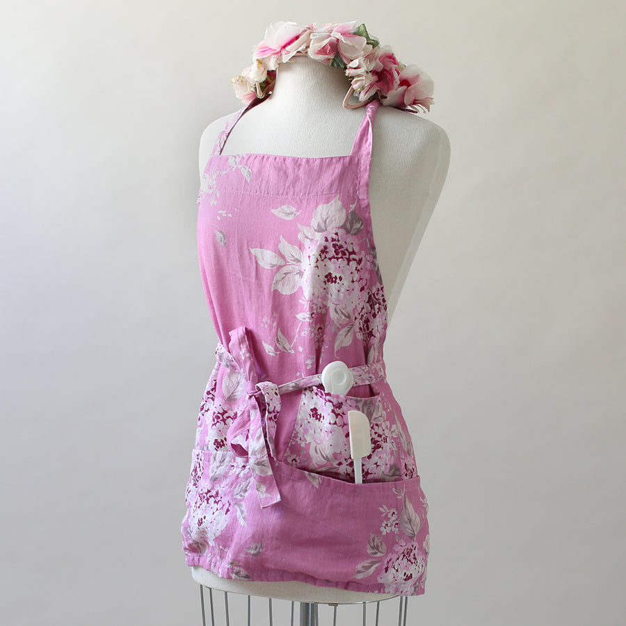 Berry Bloom Linen Apron